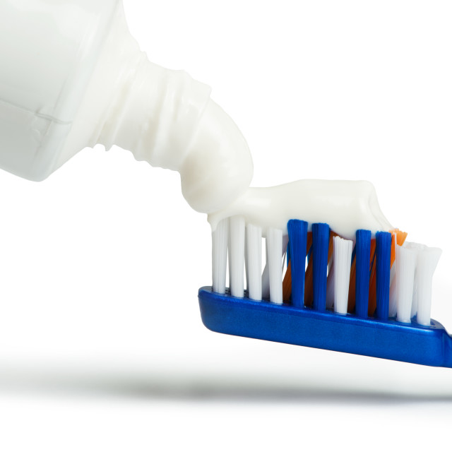 """Toothbrush and toothpaste"" stock image"