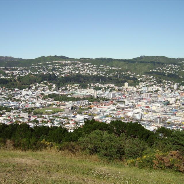 """City of Wellington, New Zealand"" stock image"