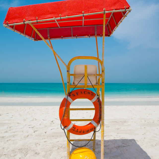 """Life guard's post"" stock image"