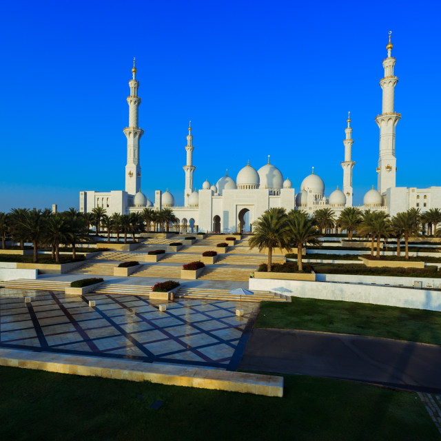 """Abu Dhabi grand mosque"" stock image"