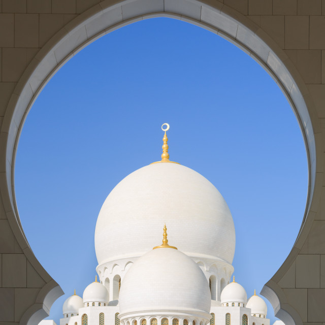 """Zayed grand mosque"" stock image"