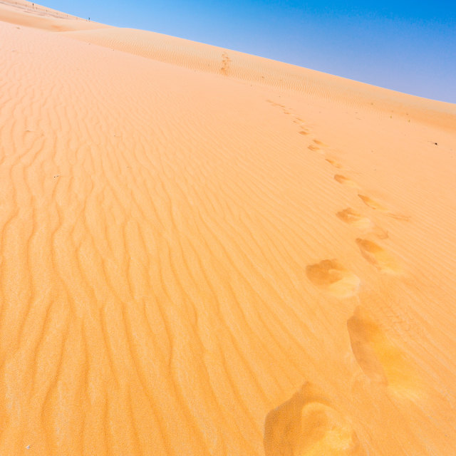 """""""Steps in sand"""" stock image"""