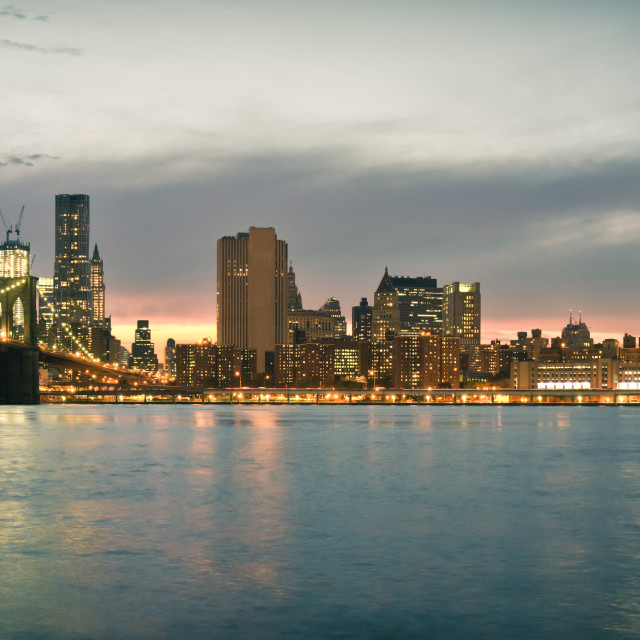 """New York City Skyline"" stock image"