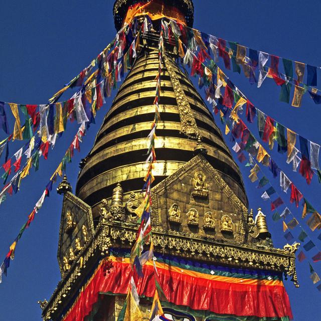 """Swayambunath Temple in Kathmandu"" stock image"
