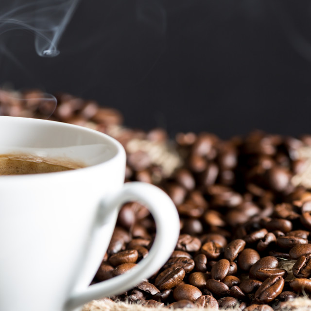 """Steaming coffee"" stock image"