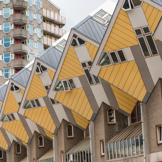 """Cube houses in Rotterdam, The Netherlands"" stock image"