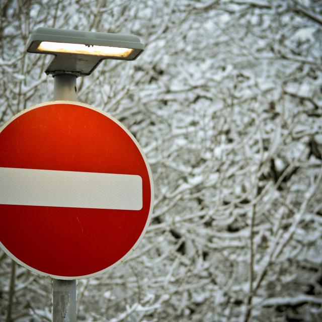 """No Entry"" stock image"