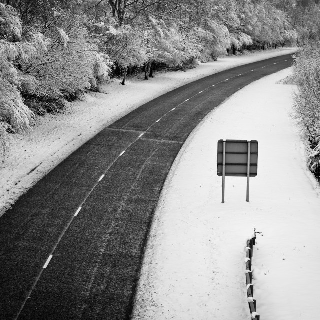 """Snow Highway"" stock image"