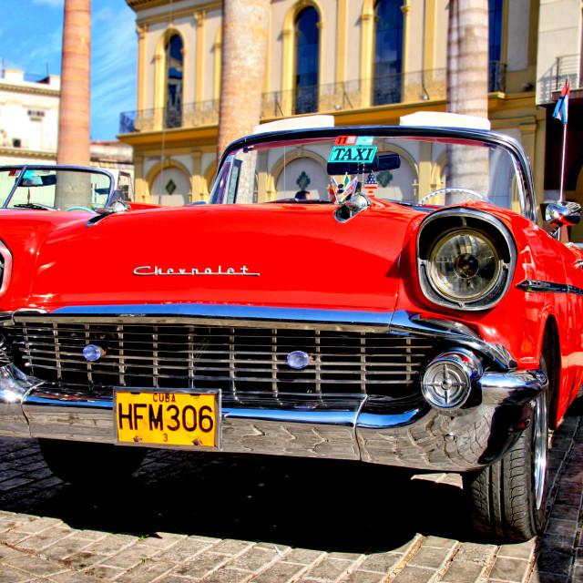 """Classic Chevrolet in Havana, Cuba"" stock image"
