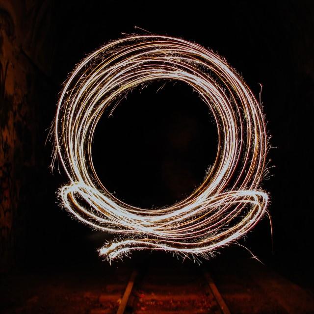 """Fiery Circles"" stock image"