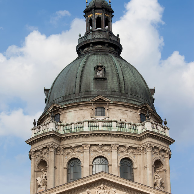 """St. Stephen's Basilica Dome in Budapest"" stock image"