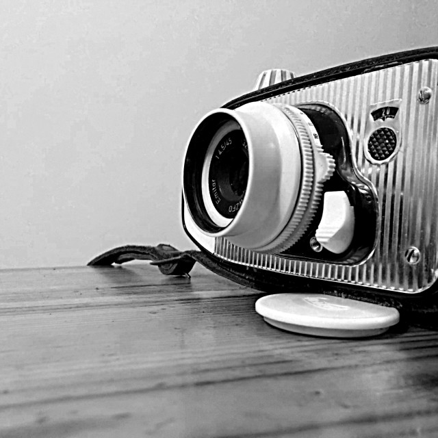 """Old photo camera"" stock image"
