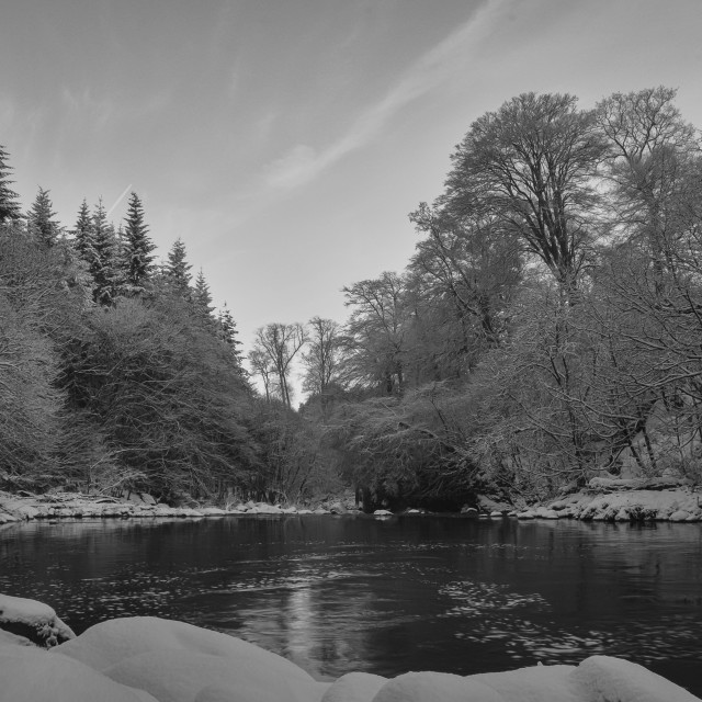 """Winter River Landscape"" stock image"
