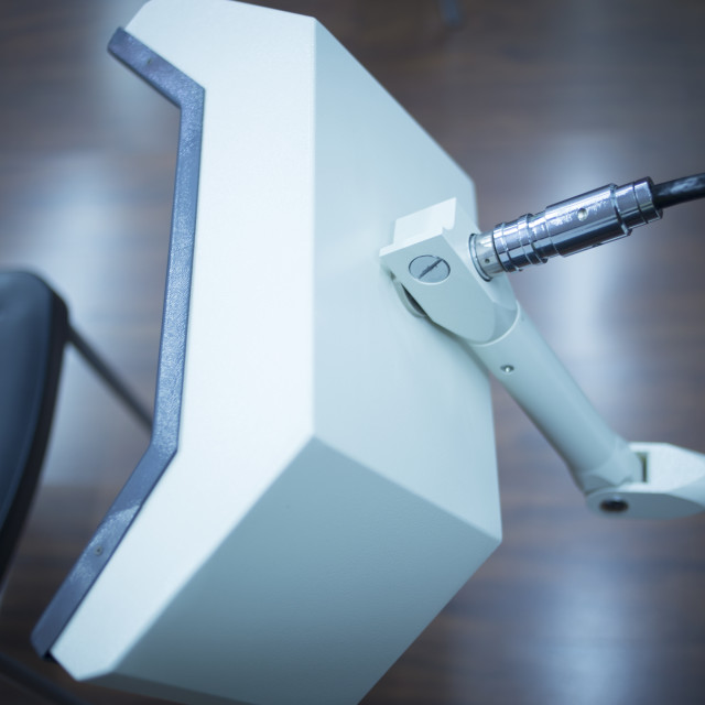 """Rehabilitation physiotherapy machine in clinic"" stock image"