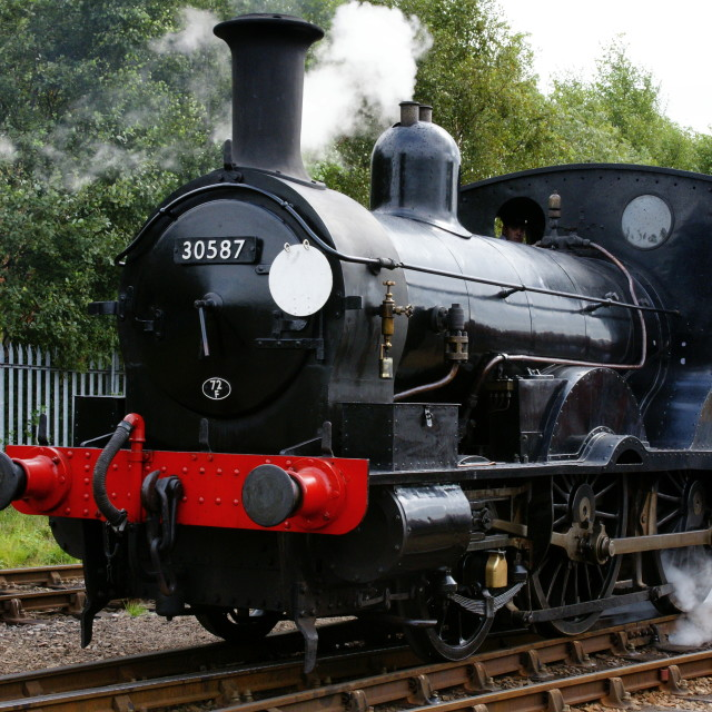 """LSWR 2-4-0 Well Tank steam locomotive"" stock image"