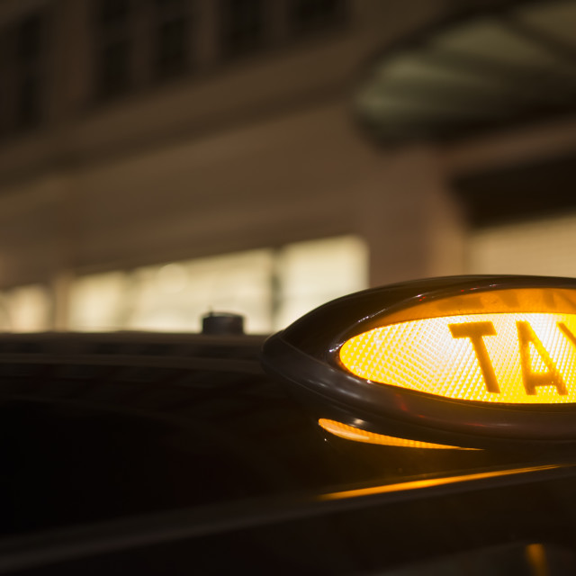 """""""Taxi in London"""" stock image"""