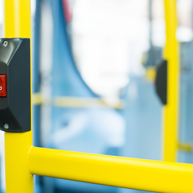 """Bus Interior at public transport"" stock image"