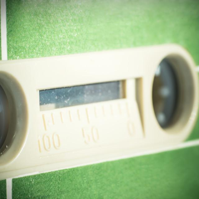 """Green vintage Cassette Tape"" stock image"