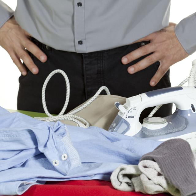 """Ironing clothes"" stock image"
