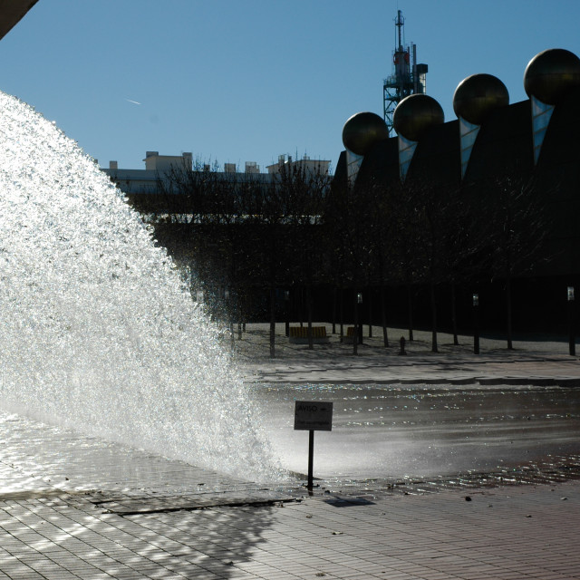 """Lisbon fountain"" stock image"