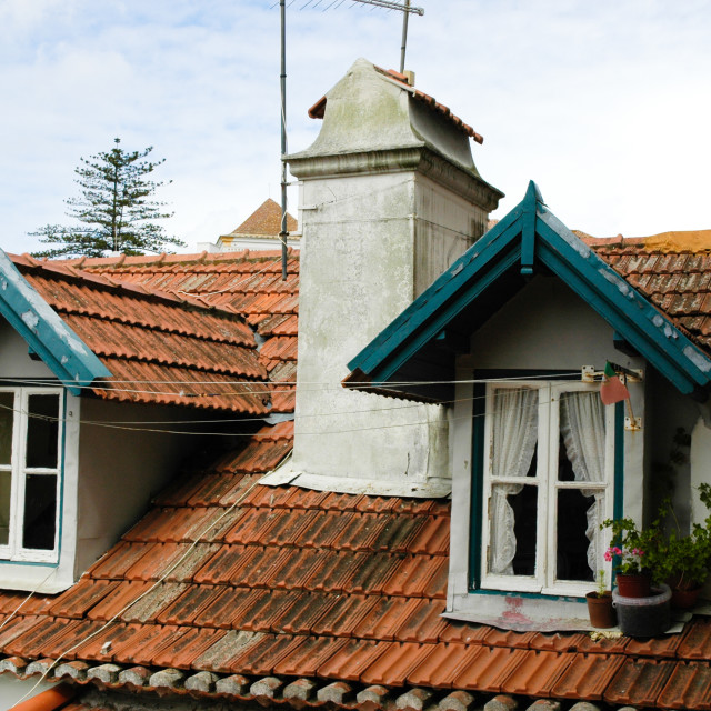 """Rooftops Lisbon"" stock image"