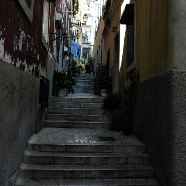 """Lisbon alley"" stock image"