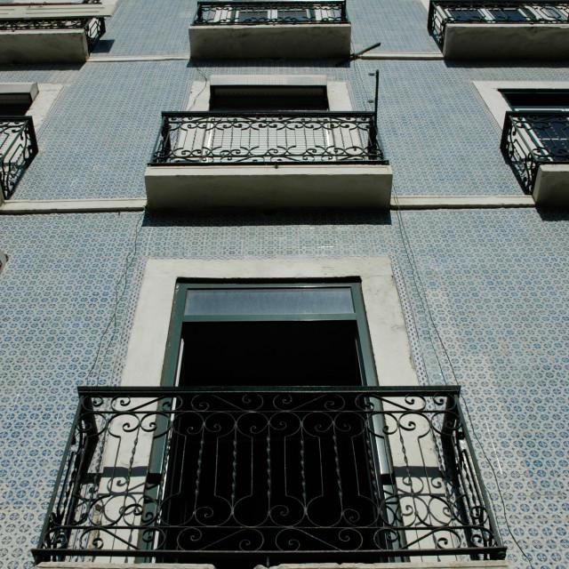 """""""Lisbon tiled wall"""" stock image"""