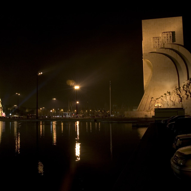 """""""Discovery Monument at Night"""" stock image"""