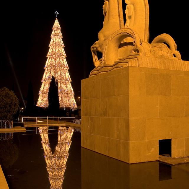 """""""Lisbon Christmas lights"""" stock image"""