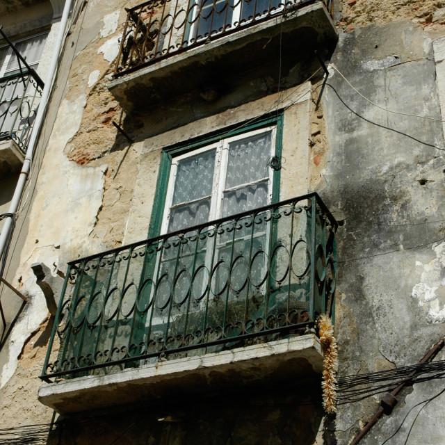"""Lisbon balcony"" stock image"