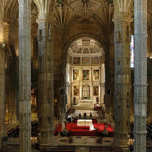 """""""Church of Jeronimos"""" stock image"""