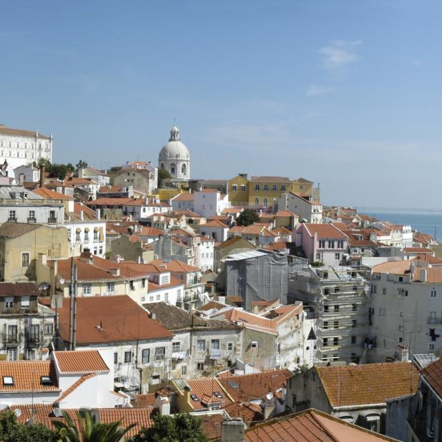 """Lisbon panoramic"" stock image"