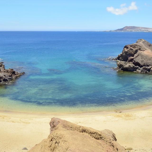 """The Papagayo beach"" stock image"