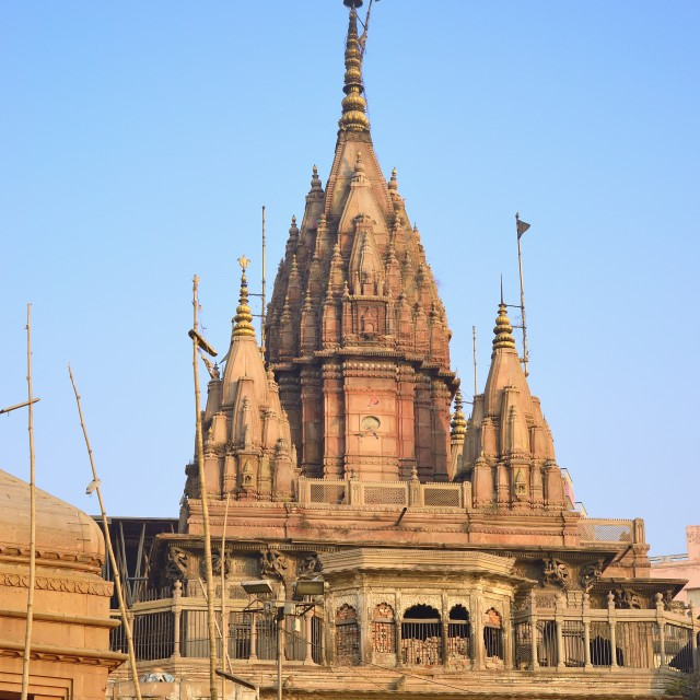 """Varanasi temple"" stock image"