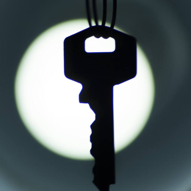 """Key silhouette artistic photo"" stock image"