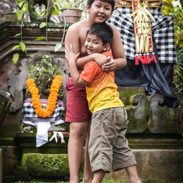 """""""Family Hug"""" stock image"""