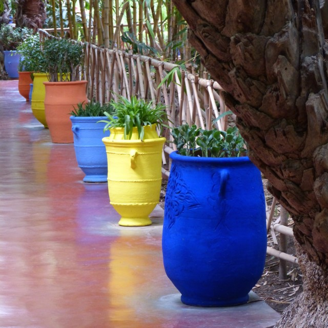 """Colours of the Maghreb - Majorelle II"" stock image"