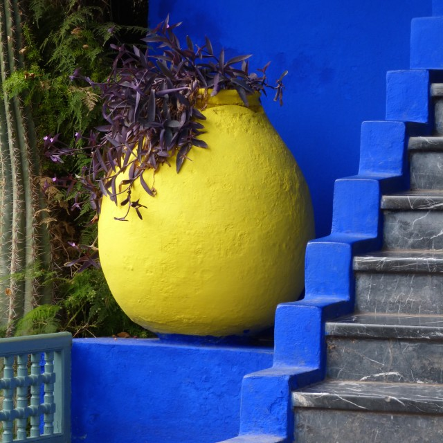 """Colours of the Maghreb - Majorelle I"" stock image"