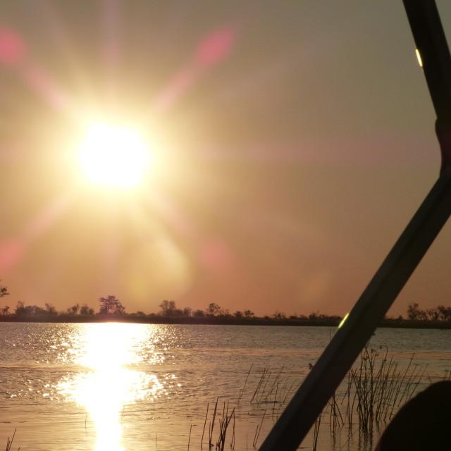 """""""Okavango Sunset I"""" stock image"""
