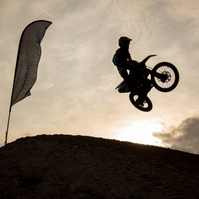 """Motocross Sunrise"" stock image"
