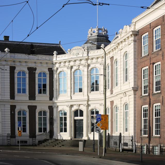 """""""Kneuterdijk Palace"""" stock image"""