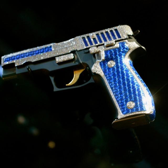 """Jewelled Pistol - SIG P226"" stock image"