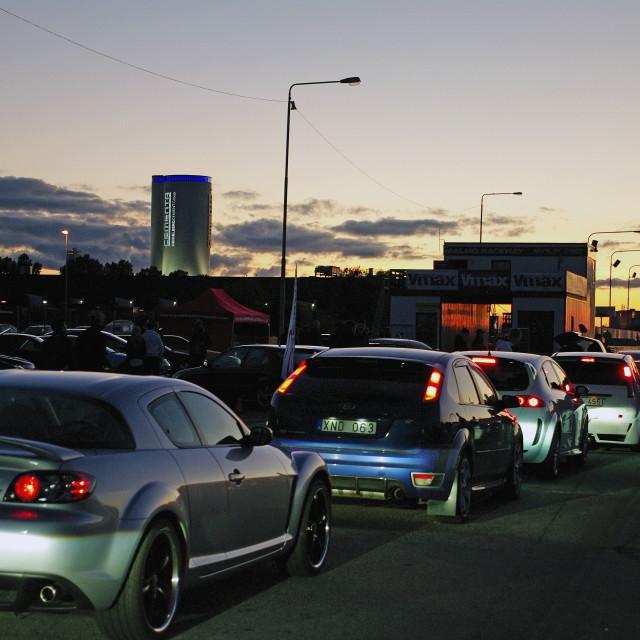 """Night street race"" stock image"