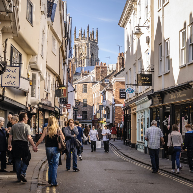 """York Visitors"" stock image"