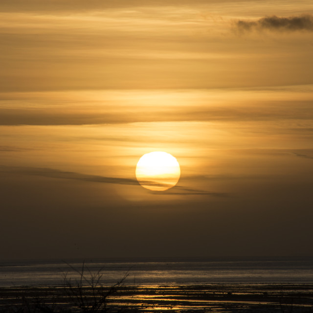 """Severn Sunset"" stock image"