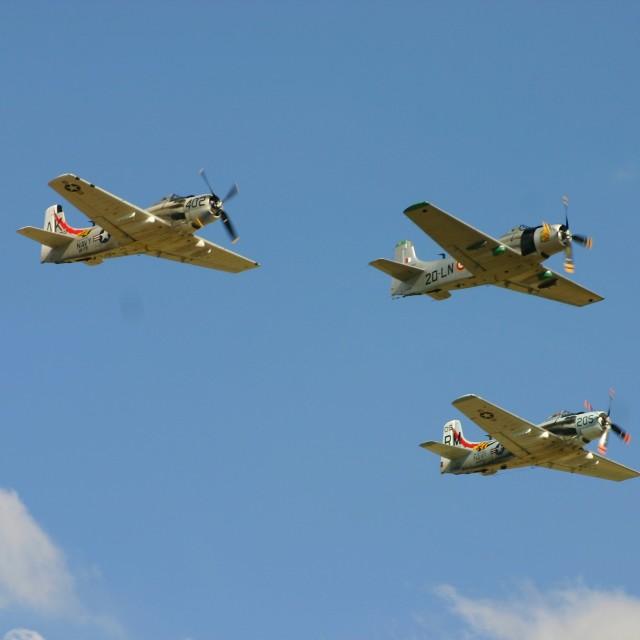 """Douglas Skyraider Formation"" stock image"
