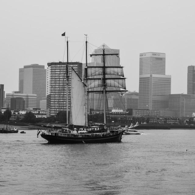 """Greenwich Tall Ships"" stock image"