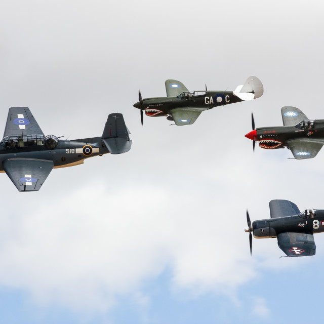"""WWII formation"" stock image"