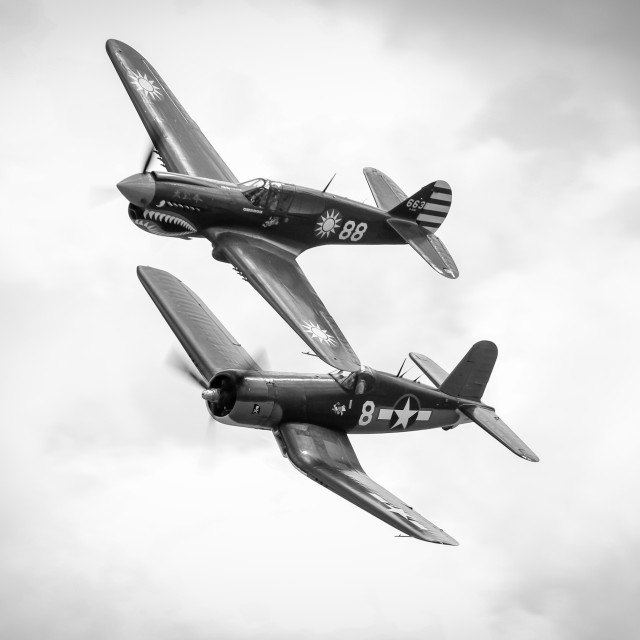 """WWII fighters"" stock image"