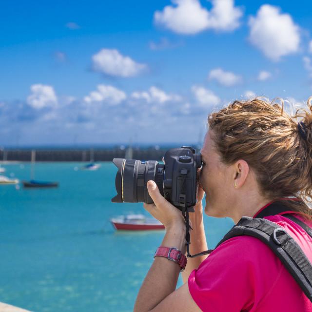 """""""Photographer doing photos"""" stock image"""